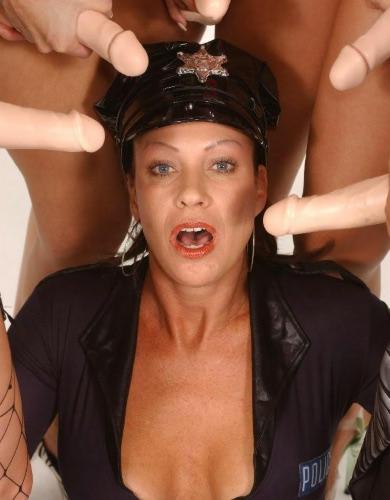 Busty Wife Gets Gangbanged